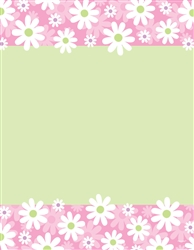 Daisy Stripe Laser Sheets | Party Supplies