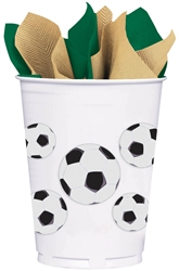 Soccer Fan Plastic Cups | Party Supplies