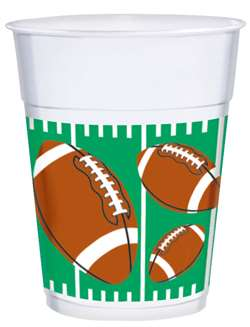 The Big Game Plastic 16 oz. Cups | Party Supplies
