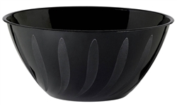 Swirl Bowl - Black 2 Qts | Party Supplies