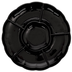 Compartment Tray - Black | Party Supplies