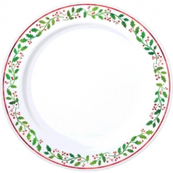 "Christmas 7-1/2"" Round Plastic Plates 