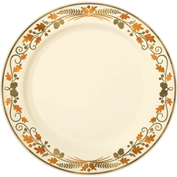 "Thanksgiving Premium Plastic Round 7-1/2"" Plates 