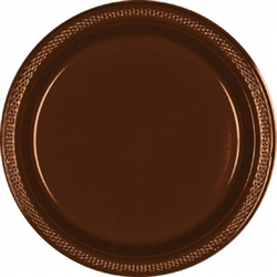 "Chocolate Brown 7"" Plastic Plates - 20ct. 