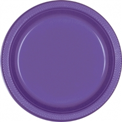 "New Purple 9"" Plastic Round Plates  