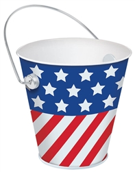 Red, White & Blue Bucket | Party Supplies