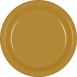 "Gold 10-1/4"" Plastic Plates - 20ct. 