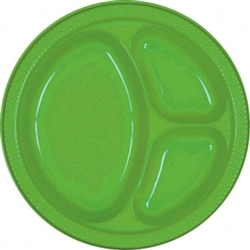 "Kiwi Plastic 10¼"" Divided Plates 
