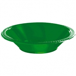 Festive Green 12 oz. Plastic Bowls - 20ct | Party Supplies