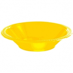 Yellow Sunshine 12 oz. Plastic Bowls  - 20ct | Party Supplies