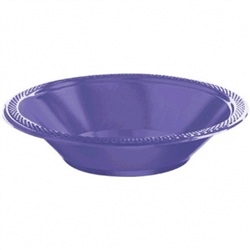 New Purple 12 oz. Plastic Bowls  - 20ct | Party Supplies