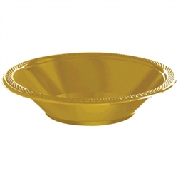 Gold 12 oz. Bowls - 20ct. | Party Supplies