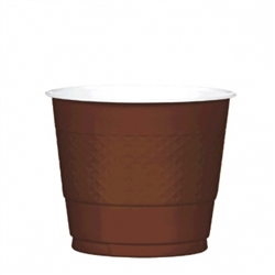 Chocolate Brown 9 oz Plastic Cups - 20ct. | Party Supplies