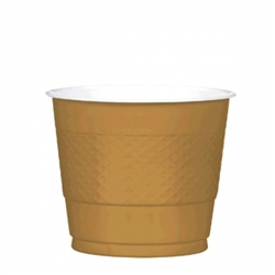 Gold 9 oz Plastic Cups - 20ct. | Party Supplies