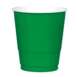 Festive Green 12 oz. Plastic Cups - 20ct | Party Supplies