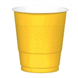 Yellow Sunshine 12 oz. Plastic Cups - 20ct | Party Cups