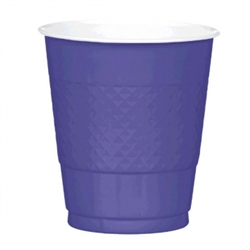 New Purple 12 oz. Plastic Cups  - 20ct | Party Supplies
