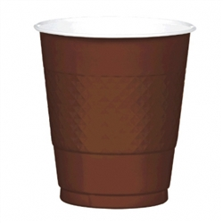 Chocolate Brown 12 oz Plastic Cups - 20ct. | Party Supplies