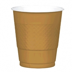 Gold 12 oz Plastic Cups - 20ct. | Party Supplies