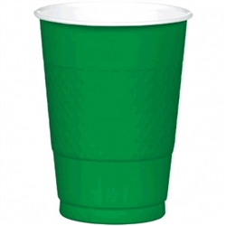 Festive Green 16 oz. Plastic Cups - 20ct | Party Cups