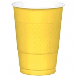 Yellow Sunshine 16 oz. Plastic Cups - 20ct | Plastic Cups