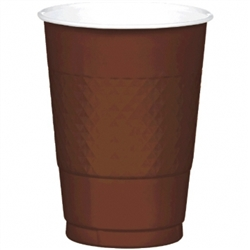 Chocolate Brown 16 oz Plastic Cups - 20ct. | Party Supplies