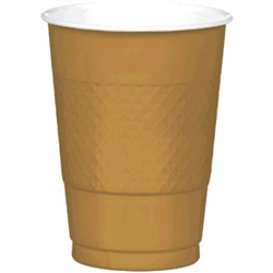 Gold 16 oz. Plastic Cups - 20ct. | Party Supplies