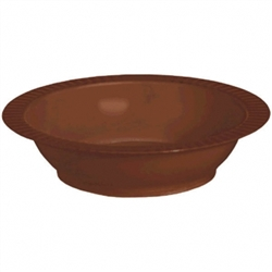 Chocolate Brown 12 oz Premium Plastic Bowls - 24ct. | Party Supplies