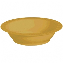 Gold 12 oz Premium Plastic Bowls - 24ct. | Party Supplies