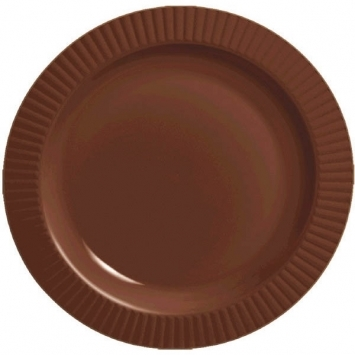 Chocolate Brown Round 10-1/4  Premium Plastic Plates - 16ct.  sc 1 st  Vickiu0027s Party Pro & Chocolate Brown Round 10-1/4