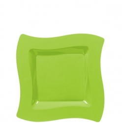 "Wavy Square 6-1/2"" Plates - Kiwi 