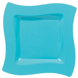 "Wavy Square 6-1/2"" Plates - Caribbean 