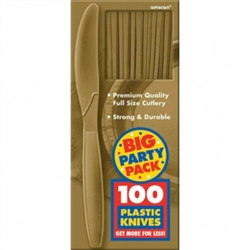 Gold Knives - 100ct. | Party Supplies