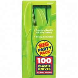 Kiwi Big Party Pack Plastic Knives | St. Patrick's Day Tableware