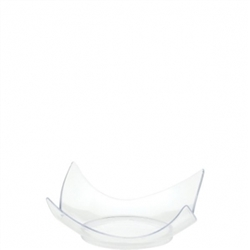 Clear Plastic Mini Curvy Plates | Party Supplies