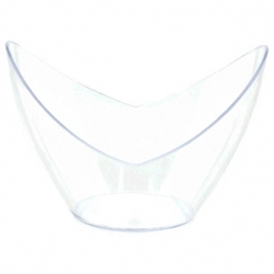 Clear Plastic Mini Oval Bowls | Party Supplies