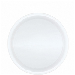 White Round Plastic Serving Platter | Party Supplies