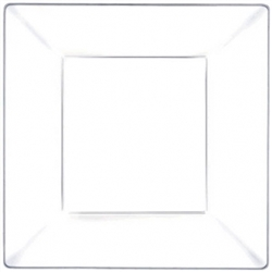 Clear Premium Plastic Square Plates, 8"