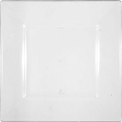 Clear Premium Plastic Square Plates, 10-3/4"