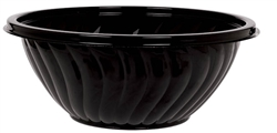 Bowl - Jet Black 2.5 Qts | Party Supplies