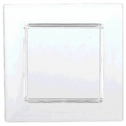 Clear Mini Plastic Square Plate | Party Supplies