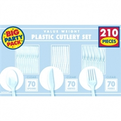 Clear Value Window Box Cutlery Set, 210ct | Party Supplies