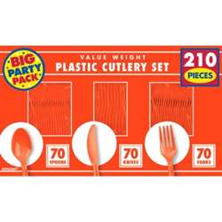 Orange Peel Plastic Set | Party Supplies