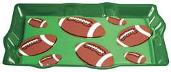 Football Fan Plastic Platter | Party Supplies