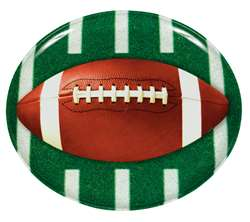 Football Round Plastic Platter | Party Supplies