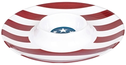Patriotic Round Chip & Dip Platter | 4th of July Tableware