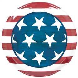 Patriotic Round Platter | 4th of July Tableware
