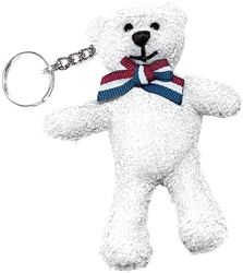 United We Stand Ultra Suede Bear Keychain | Party Supplies