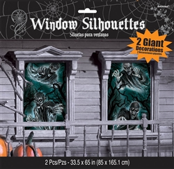 Cemetery Window Silhouettes | Party Supplies