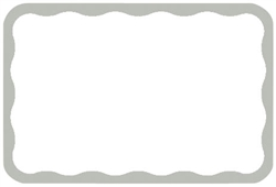 Silver Border Adhesive Name Tags | Party Supplies